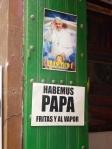 30/05/2013 - Carthagène, Colombie : En Colombie, la religion donne la frite !