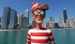 30/04/2013 – Chicago, USA : S'il pouvait plier les bras, Charlie mettrait la main droite sur le coeur, s'il pouvait parler, il chanterait l'hymne américain !