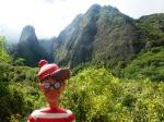 22/05/2013 – Maui, Hawaii, USA : Charlie pose devant le Iao Needle