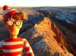 02/09/2013 – Chili, Désert d'Atacama : Charlie prend le soleil dans la Vallée de la Lune