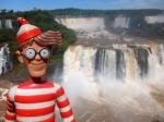 06/10/2013 – Brésil, Iguazu : Charlie devant les chutes d'Iguazu