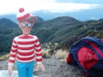 06/04/2012 – Boquete, Panama : Charlie arrive au sommet du Barù ! Bon, il avait un porteur mais quand même …