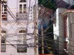 31/10/2012 - Valparaiso, Chili : Spiderman, électricien