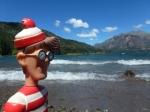 23/11/2012 – Bariloche, Argentine : Charlie en mode relax devant le lac Gutiérrez