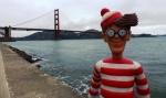 12/05/2013 – San Francisco, USA : Charlie, devant le Golden Gate Bridge