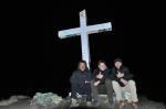 L'équipage américano germano français au sommet du volcan Baru après plus de 5 heures d'ascension nocturne