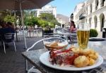 Repas léger en terrasse à Salta