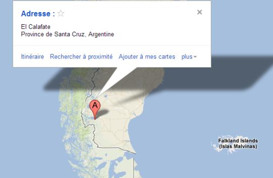 Map El Calafate