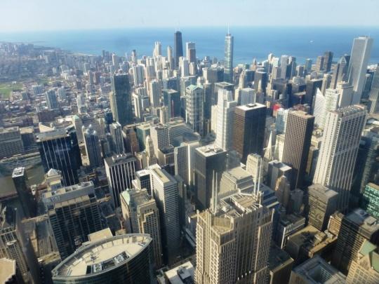 Skyline depuis le 108ème étage de la Willis Tower