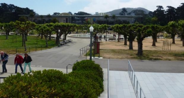 Le De Young Museeum, dans le Golden Park, immense espace arboré de 412 ha