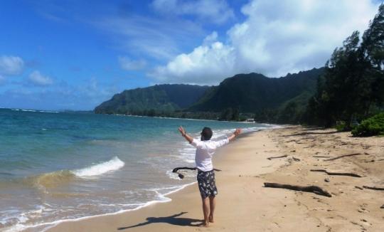 D'la plage, d'la plage, d'la plage (ici sur la côte Est d'Oahu)