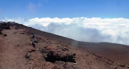 A 10000 feets d'altitude, soit 3000 m, sur un matelas de nuages