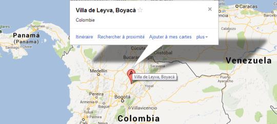 Map Villa de Leyva