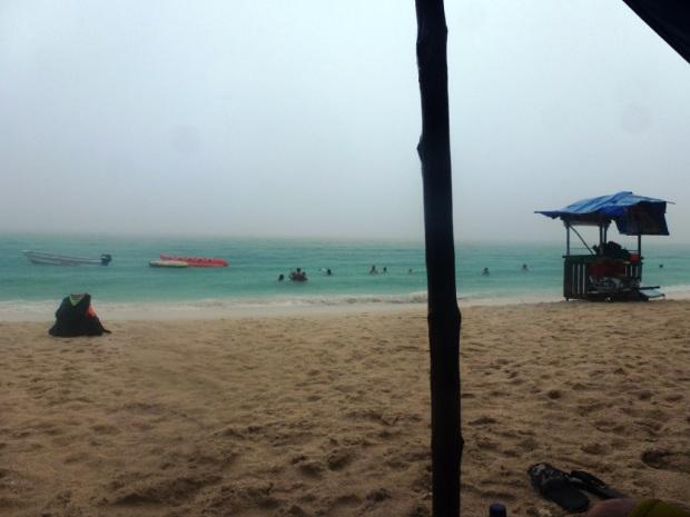 Playa Blanca sous un orage tropical !