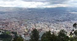 Vue sur Bogota depuis le Cerro Monserrate