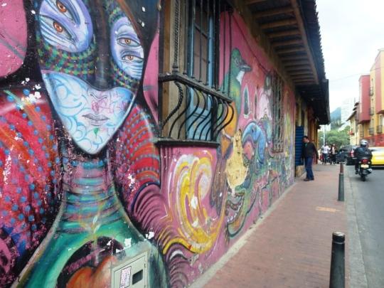 Street art dans les rues de Bogota