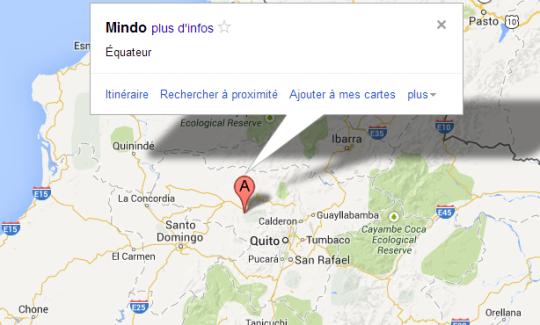 Map Mindo