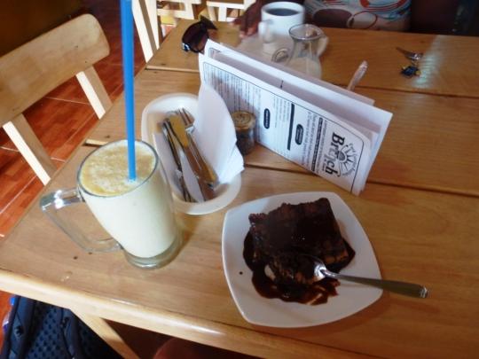 Pas vraiment léger non plus : le brownie peanut butter !
