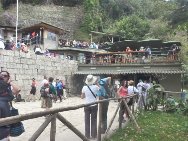 Le côté ultra touristique des abords du Machu Picchu