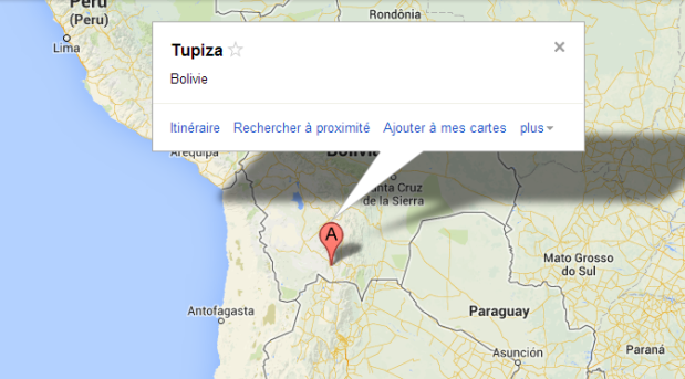 Map Tupiza
