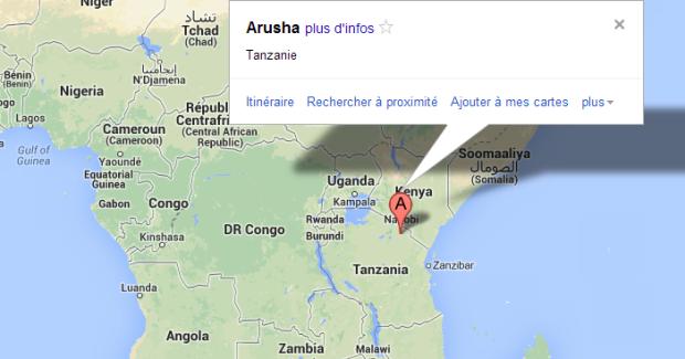 Map Arusha