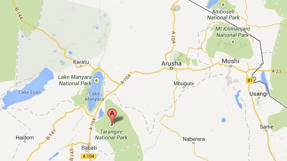 Map Tarangire