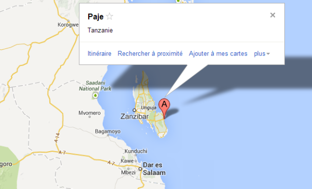 Map Paje