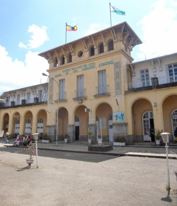 """""""La Gare"""", ligne de chemin de fer reliant Addis à Djibouti"""