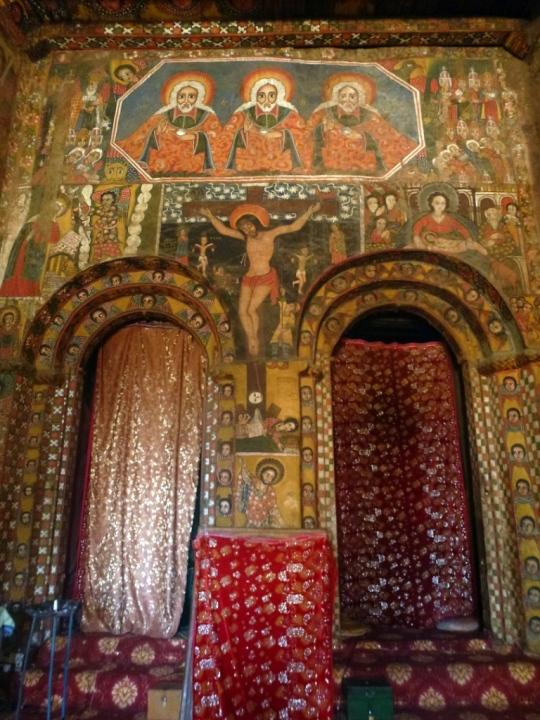 Intérieur de l'Église de Debre Berhan Sellasie