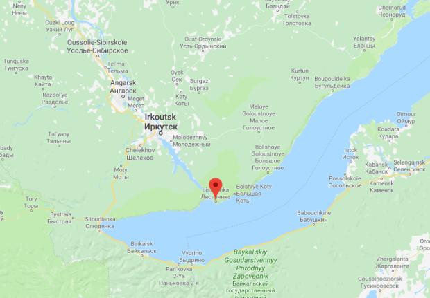Map Listvianka