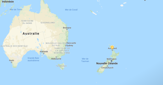 Map Auckland