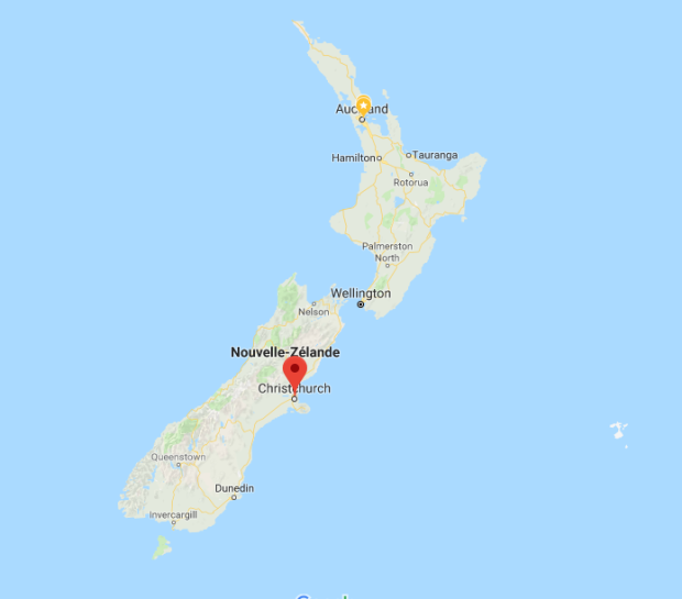 Map Christchurch